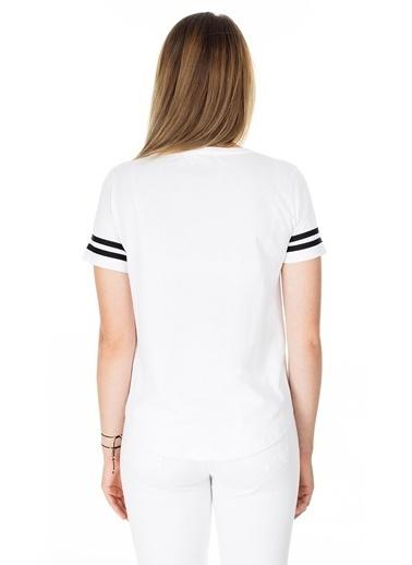 Lela Lela Bisiklet Yaka Kadın T Shirt 5411037 Beyaz